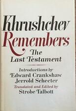 Khrushchev Remembers- Hardbound Book Signed