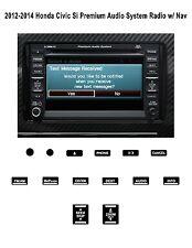 2012-2014 Honda Civic Si Premium Audi System Radio w/ Nav