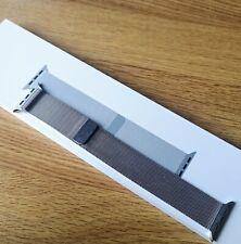Genuine apple watch silver stainless steel milanese loop strap band 42mm 44mm