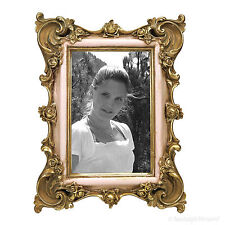 Jugendstil Bilderrahmen Fotorahmen Gold Rosa 10x15 Vintage Antik Stil Retro Look