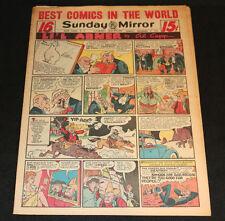 1951 Sunday Mirror Weekly Comic Section December 2nd (Fine+) Superman Schmoo App