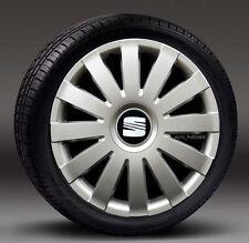 """4x16"""" rueda Adornos, Tapacubos, cubre para caber Seat Alhambra, Leon, Toledo"""