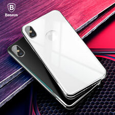 BASEUS 4D Curved Tempered Glass Back Protector Film For iPhone Xs Max XR 8 Plus