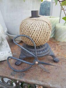 Affari Fadenhalter mit Schere Gusseisen antik schwarz Shabby Vintage Landhaus