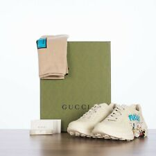 GUCCI x DISNEY 890$ Rhyton Sneakers In Ivory Leather With Donald Duck Print