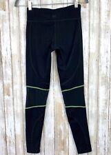 Zobha Black Mesh Inlay Insert Green Trim  Yoga Leggings S Small Long Length