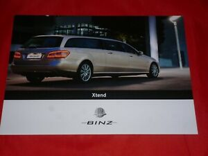 MERCEDES S212 BINZ Xtend 250 CDI E 350 CGI E 500 Prospektblatt Brochure von 2010