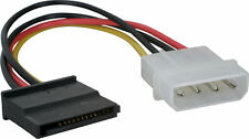 185mm 4Pin IDE Molex Macho a Hembra Cable Enchufe de alimentación HDD SATA