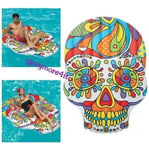 "H2OGO! Fiesta Skull Island Pool Float 6'4""X 4'6"" Skull Head IN HAND SHIP SAME DA"