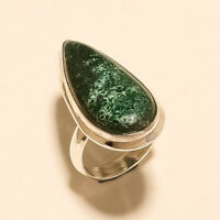 Natural Mexcian Chrysocolla Ring 925 Sterling Silver Handmade Fine Jewelry Gifts