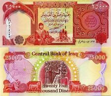 75000 NEW 2013 Uncirculated Certified Iraqi Dinar Banknotes  25000 X 3