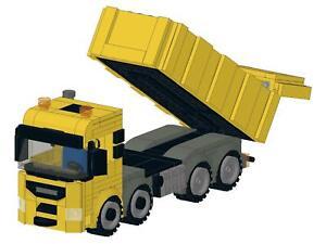 Bauanleitung instruction City Kipper LKW 4achser SLT Eigenbau Moc aus Lego Basic