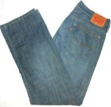 32x34 Levi Strauss 569 Loose Straight Blue Jeans 100% Cotton Men's Red Tab Denim