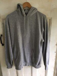 H&M Grey Hoodie Size M Mens Fleece Jumper