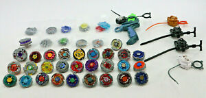 Lot Of 28 Beyblade Metal Burst Launchers & 5 Ripcords And Lots Of Parts