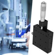X-Micrometer Manual Cross Rail Precision Linear Stage Bearing 80*80mm 1PCS