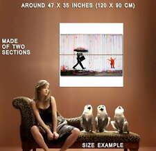 74434 BANKSY Coloured Rain Bild Street Art Wall Print POSTER Plakat