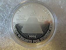 2009 1oz New World Order Honest Weights For Honest Men .999 Fine Silver Round