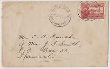Stamp Australia 1&1/2d Parliament House on cover 1930 MUNDUBBERA to Ipswich