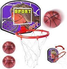 Mini Premium Basketball Hoop System Over the Door Indoor Toy w 2 Balls & Pump