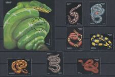 Reptiles snakes - attractive set with mini sheet - used from Tanzania
