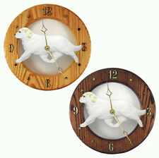 Clumber Spaniel Wood Clock Lemon