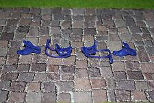 Playmobil Pferde 2 Generation Zaumzeug mit Sattel Blau drei Teilig 2 Stück