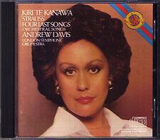 Kiri Te KANAWA STRAUSS Four Last Songs ANDREW DAVIS CBS CD Vier letzte Lieder
