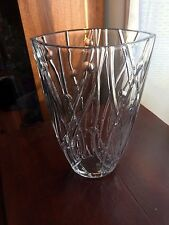 Large Cut Crystal Eye Shaped Vase