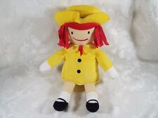 Kohl's Cares For Kids MADELINE Doll Yellow Red Hat Plush Stuffed Toy 14""
