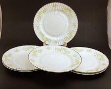 6 Vintage Royal Tara Fine Bone China Salad Plates & Matching Shell Dish/RTA16
