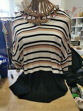 F&F Ladies Stripy T Shirt Size 20