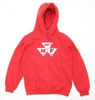 AWD Mens Size S Cotton Blend Graphic Red Hoodie