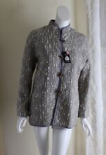 NWT Norm Thompson -Sz S Handwoven in Wales Tweed Luxury Art Jacket Coat