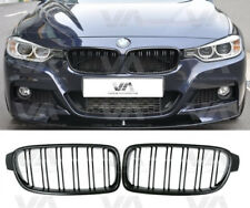 BMW 3 SERIES F30 F31 GLOSS BLACK DOUBLE KIDNEY GRILL GRILLE M3 STYLE