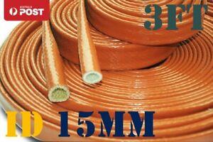 "15MM (3/8"") Fire Sleeve Braid Flame Heat Shield Fit AN6 AN8 Fuel Hose - 3FT"