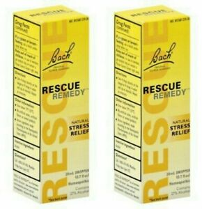 Lot of 2, BACH, RESCUE REMEDY, 20 ML Each Bottle (Pack of 2), Stress Relief