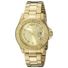 Invicta 12820 Lady's Diamond Accented Bezel Gold Dial Dive Watch