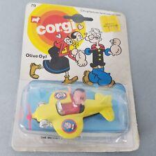 Vintage Corgi Olive Oyl Airplane  - Popeye The Sailor Man Cartoon Collectible