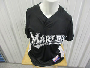 VINTAGE MAJESTIC AUTHENTIC FLORIDA / MIAMI MARLINS SPRING TRAINING MEDIUM JERSEY