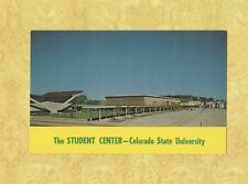 CO Fort Collins 1950-60s postcard Colorado State University Student Center