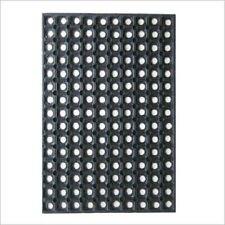 BLACK HEAVY DUTY BERMUDA RUBBER HOLE DOOR ENTRANCE MAT OUTDOOR/INDOOR 40X60CM