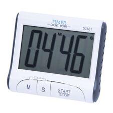 Temporizador digital de cocina LCD Reloj de cuenta atras Despertador (Blanc J8W8