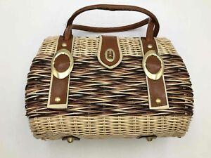 Vintage Winkelman's Wicker Basket Bag