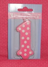 First Birthday Candle,#1,Pink,Girl,Bakery Crafts/DecoPac,Wax Cake Decoration