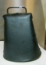 """vintage  antique steel old cow bell 5"""" with steel clapper"""