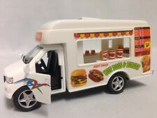 "Fast Food Truck, Hot Dogs HamBurger 5"" Die Cast Pull Back And Go Toys Boys Girls"