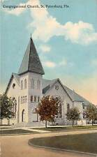 E48/ St Petersburg Florida Postcard 1917 Congregational Church