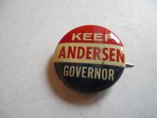 Minnesota Governor Campaign Local Pin Back Button Elmer Anderson Political