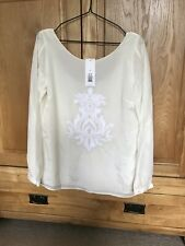 Banana Republic Silk Embroidered Blouse. Size M